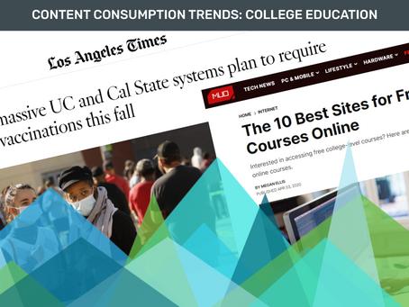 Content Consumption Trends: College Education