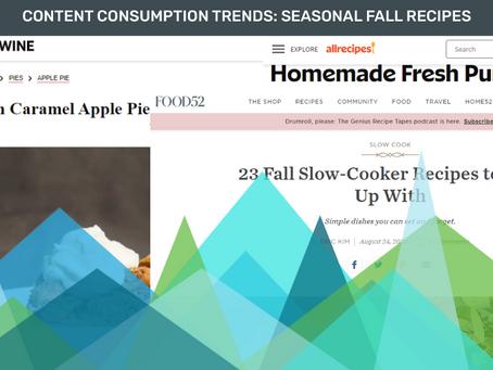 Content Consumption Trends: Seasonal Fall Recipes