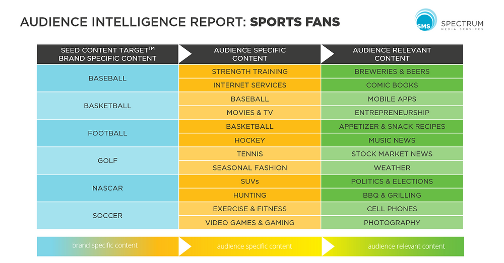 Audience Intelligence Report Sports Fans Spectrum Media Services