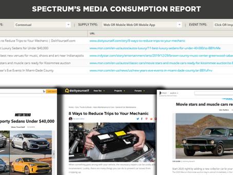 New Product Release: Spectrum's Media Consumption Report