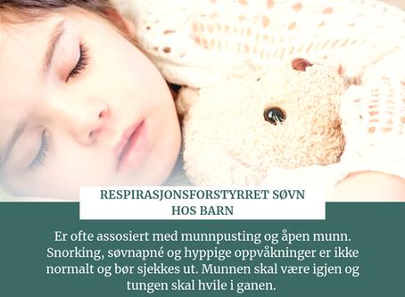 Snorker barnet ditt eller er munnen åpen?