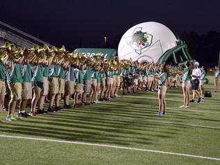 Dragon Band Performs at Community Pep Rally at Dragon Stadium