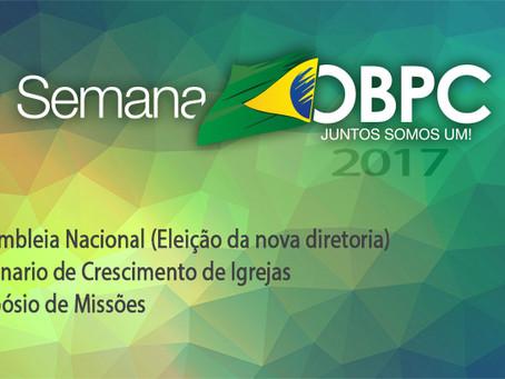 Semana OBPC 2017 – Novo Formato Veja Aqui