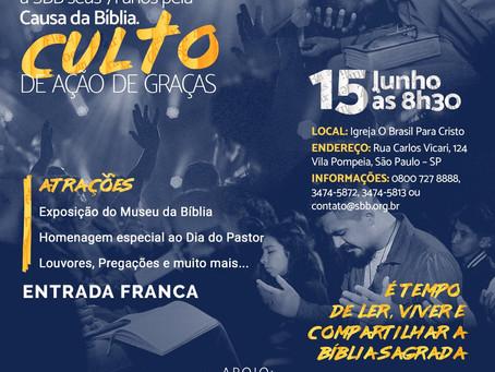 Evento 71 Anos Sociedade Bíblica do Brasil