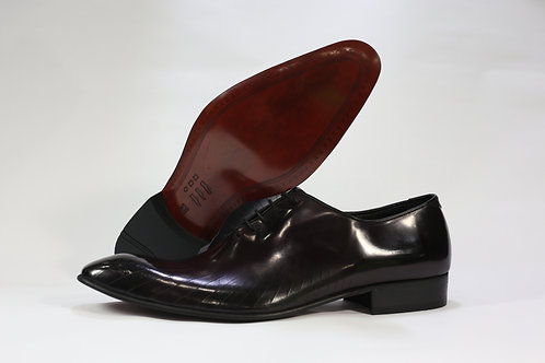 Calf Leather Whole Cut Oxford With Line Design - F43169