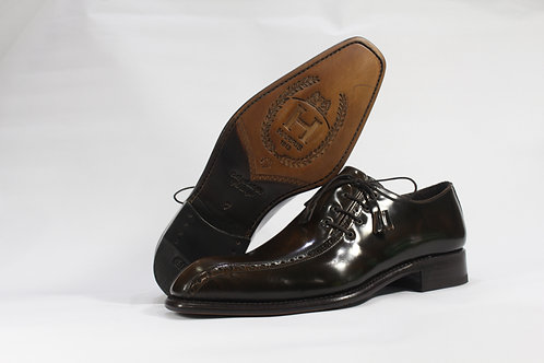 Calf Leather Oxford With Side Lace - H3212
