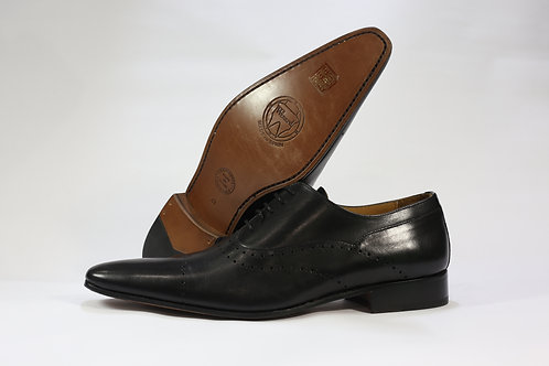 Calf Leather Oxford With Simple Brogue - C7010