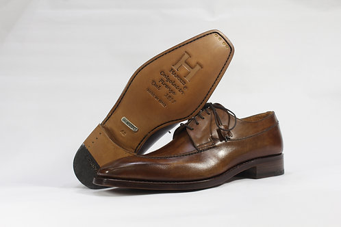 Calf Leather Derby With Split Toe Stitch - H5001