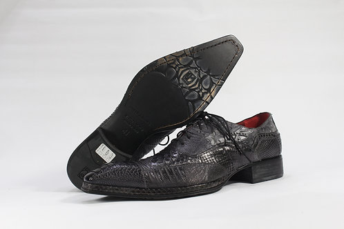 Alligator and Lizard Embossed Leather Oxford - JG995