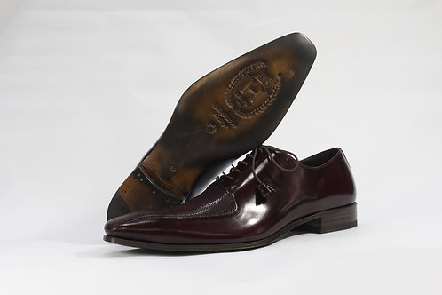 Calf Leather Oxford With Pattern Leather Toe and Vamp - H2262