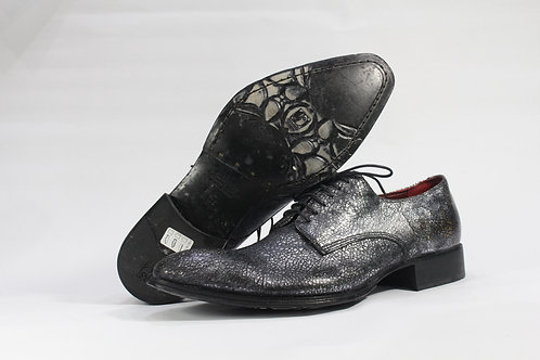 Calf Leather Derby With Metallic Print - JG1238
