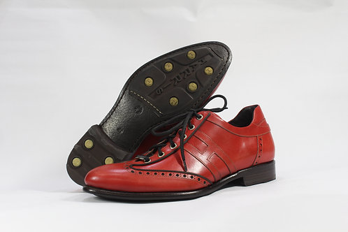 Calf Leather Lace Up Shoes With Simple Brogue - H1965