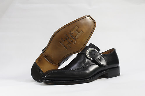 Calf Leather Single Monk Strap Shoe With Single Side Stitching - H9175