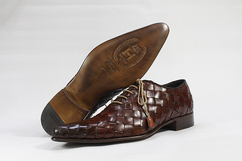 Hand Weaved Calf Leather Oxford - H2367