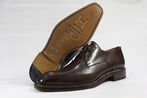 Calf Leather Derby With Wingtip Brogue and Norwegian Stitched Sole - H9951