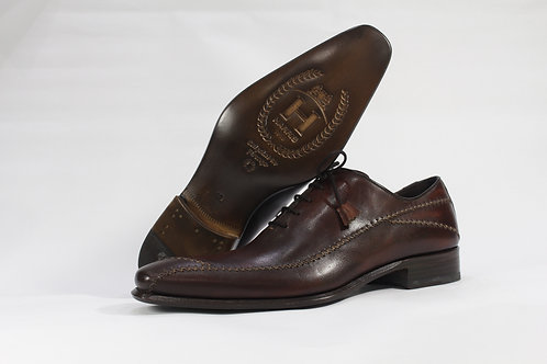 Calf Leather Oxford With Hand Stitched Pattern - H2208