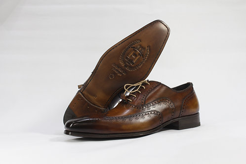 Calf Leather Oxford With Classic Brogue - H1301