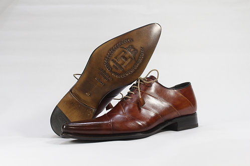 Calf Leather Oxford With Folded Leather Upper - H2120-2