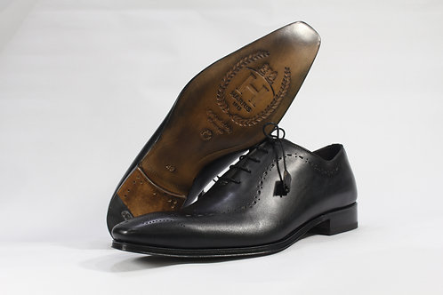 Calf Leather Whole Cut Oxford With Longwing Brogue - H2173