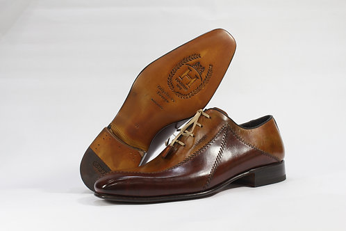 Calf Leather Oxford with Two Tone Stitch - H405