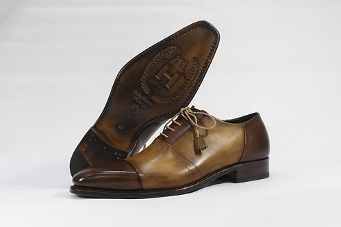 Calf Leather Oxford With Two Tone Details - H3401