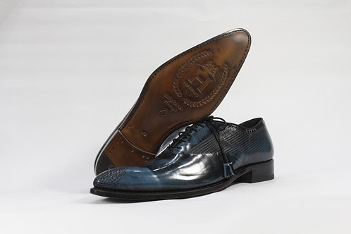 Calf Leather Oxford With Pattern Leather Toe & Quarter - H2229