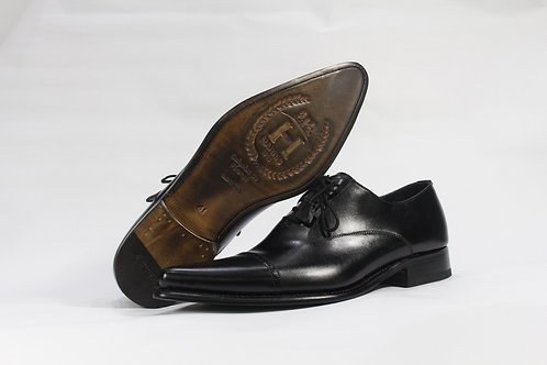Calf Leather Toe Capped Oxford With Sharp Toe - H3072