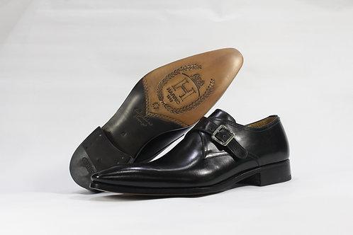 Calf Leather Single Monk Strap Shoe With Plain Toe - H900