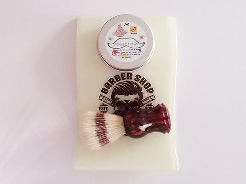 Repose blaireau et porte savon à barbe