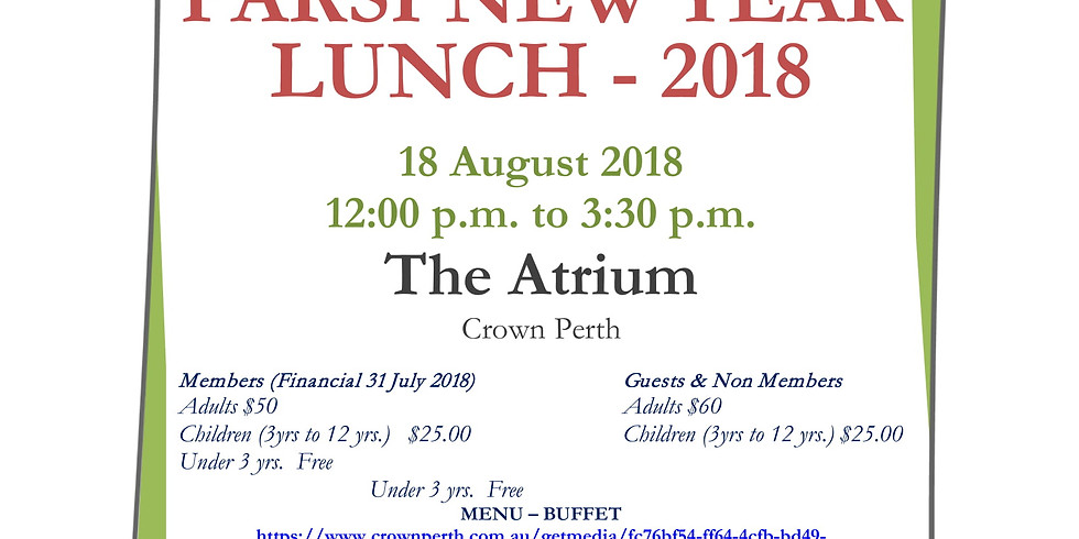 ZAWA PARSI NEW YEAR LUNCH-2018