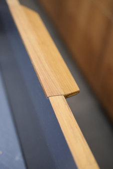 ידית בעבודת יד מעץ טיק