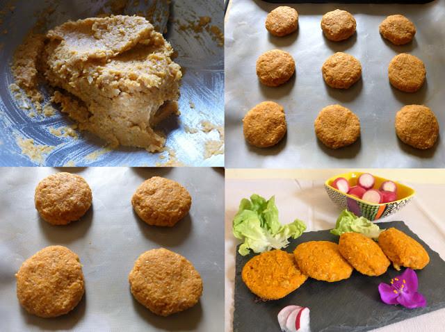 galettes pois chiches et patate douce par Les Mets Tissés