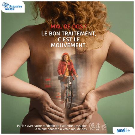 le mouvement, le meilleur des traitements pour votre dos par l'Assurance Maladie