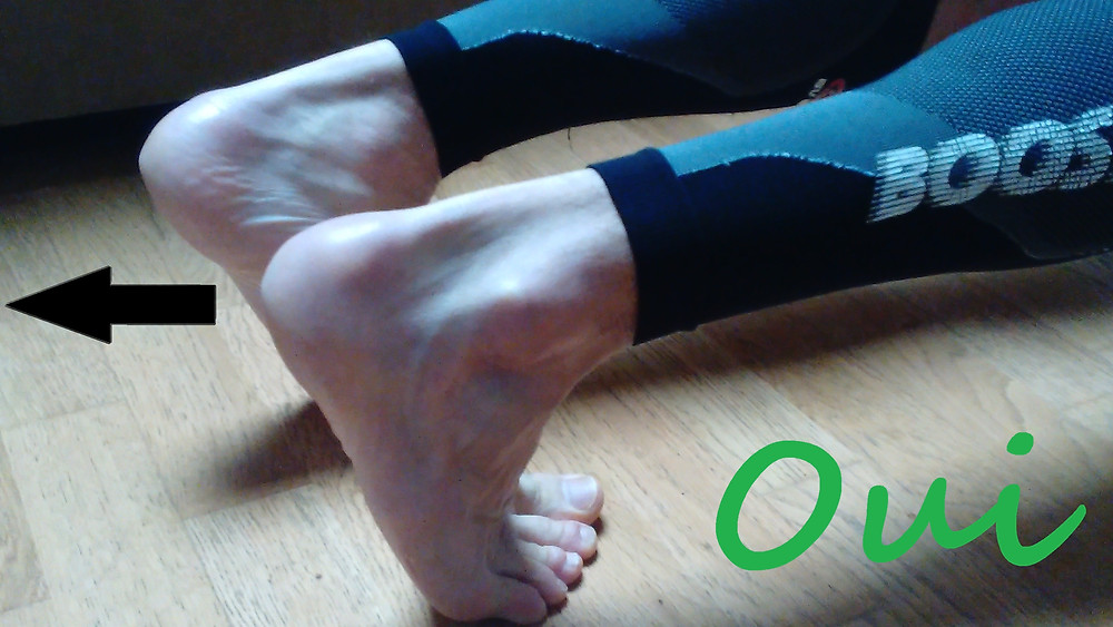 gainage : position des pieds
