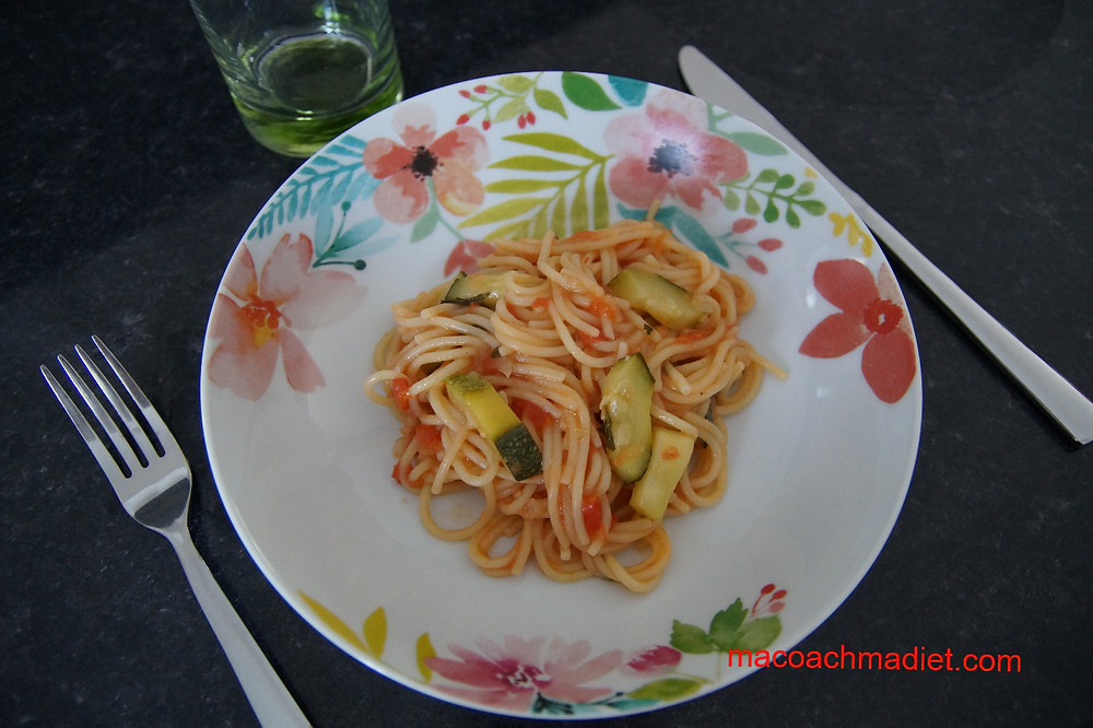 one pot pasta courgettes tomates