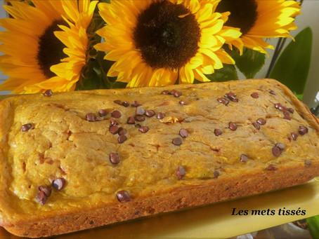 Pumpkin bread (ou gâteau potiron chocolat)