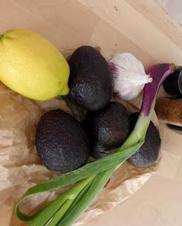 Ingrédients du guacamole par Les Mets Tissés