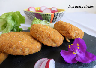 Galettes pois chiches et patate douce