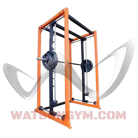 Four way plate load smith machine with horizontal & vertical stops