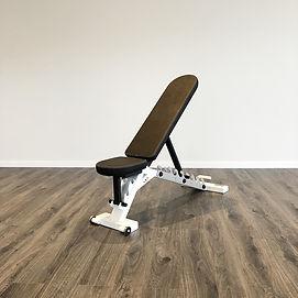 White-frame-black-upholstery-adjustable-