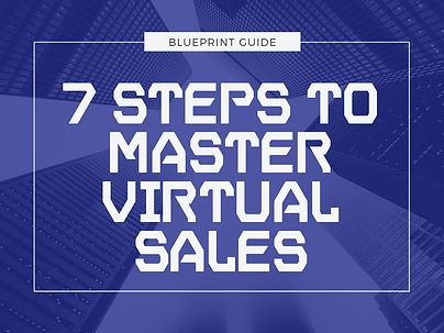 7 steps to master virtual sales - cover.