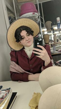 Mrs. Bronte backstage