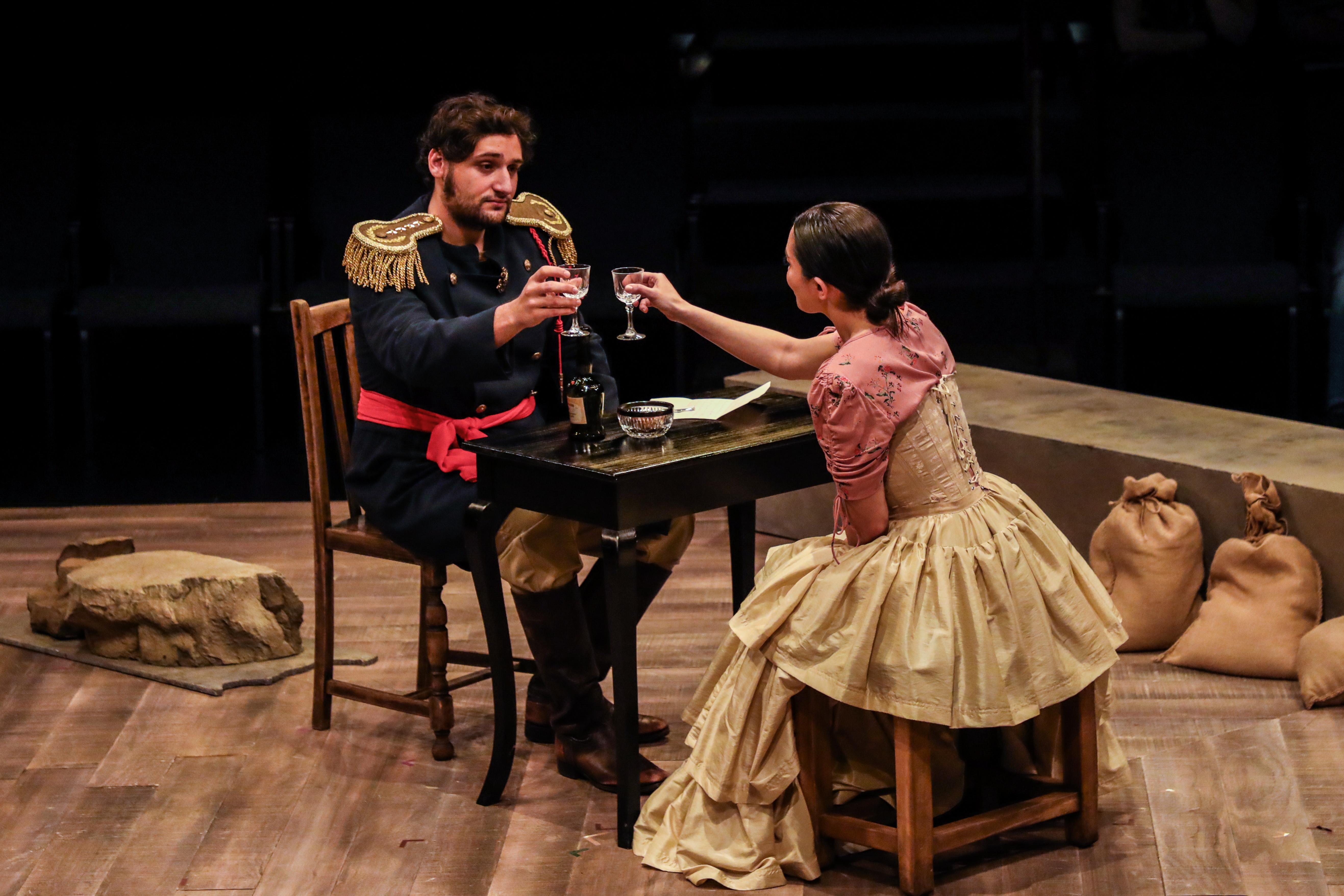 Santa Anna and Juana Navarro