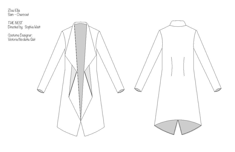 Sam Overcoat Flat Drawing