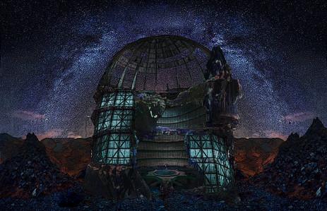 Intergallactic Dystopian Theme Park Rendering