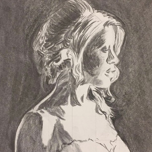 Portrait - Charcoal on Paper