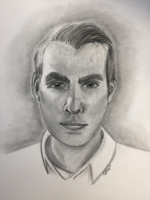 Portrait - Charcoal on Paper
