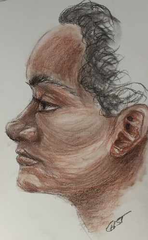 Portrait - Conté crayon on Charcoal Paper