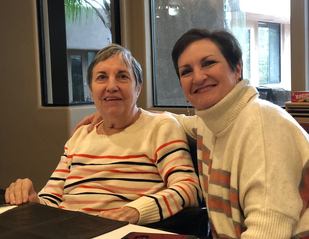 Claire of Clarity Patient Advocates with her very first client: her mom!