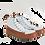 Thumbnail: Zapatilla Pataliebre Listada Blanca